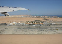 Take-off from the Hurghada Airport